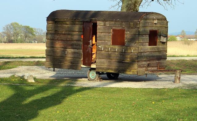 dřevěný karavan