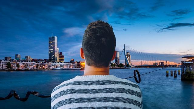 muž u rotterdamu