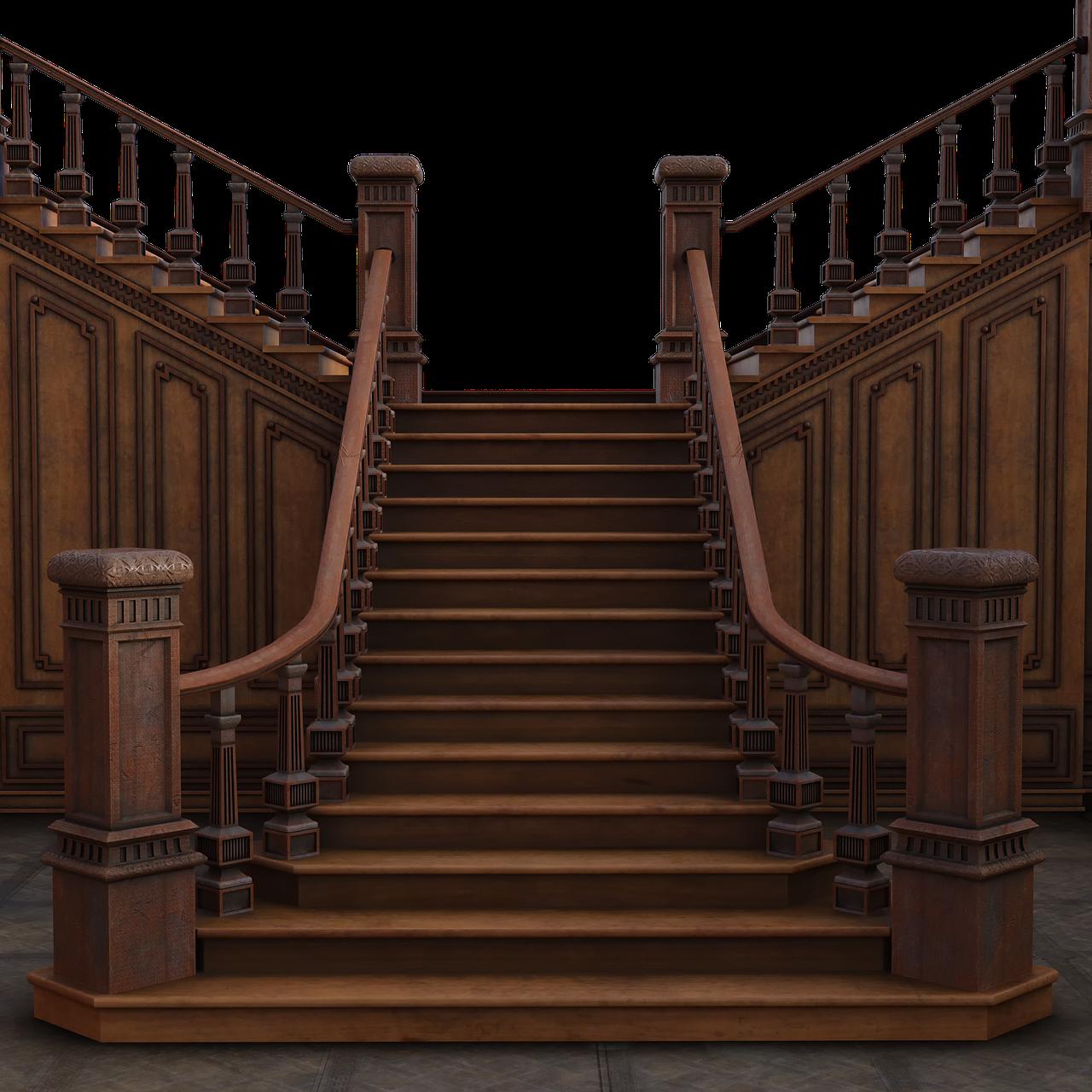 schodiště dřevěné